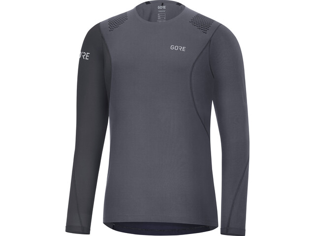 GORE WEAR R7 - Camiseta manga larga running Hombre - gris/negro